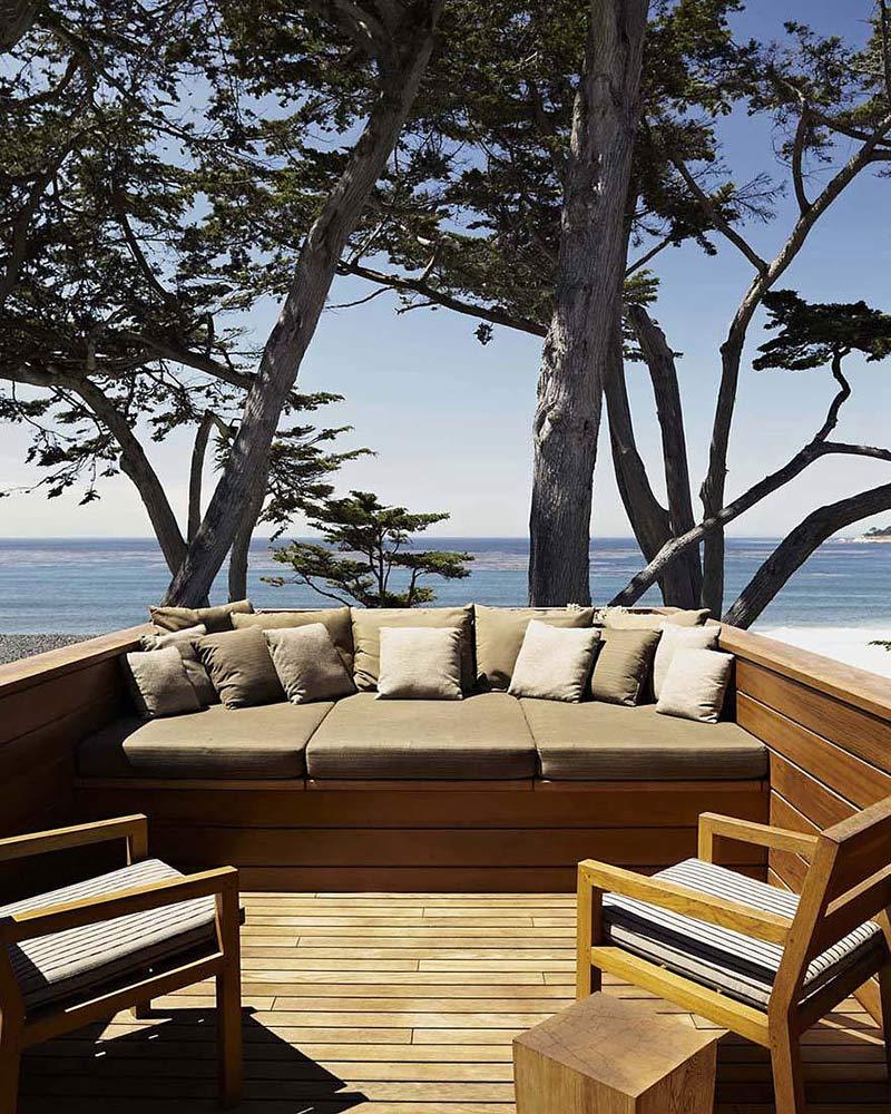 Terrace, Carmel Residence, California by Dirk Denison Architects