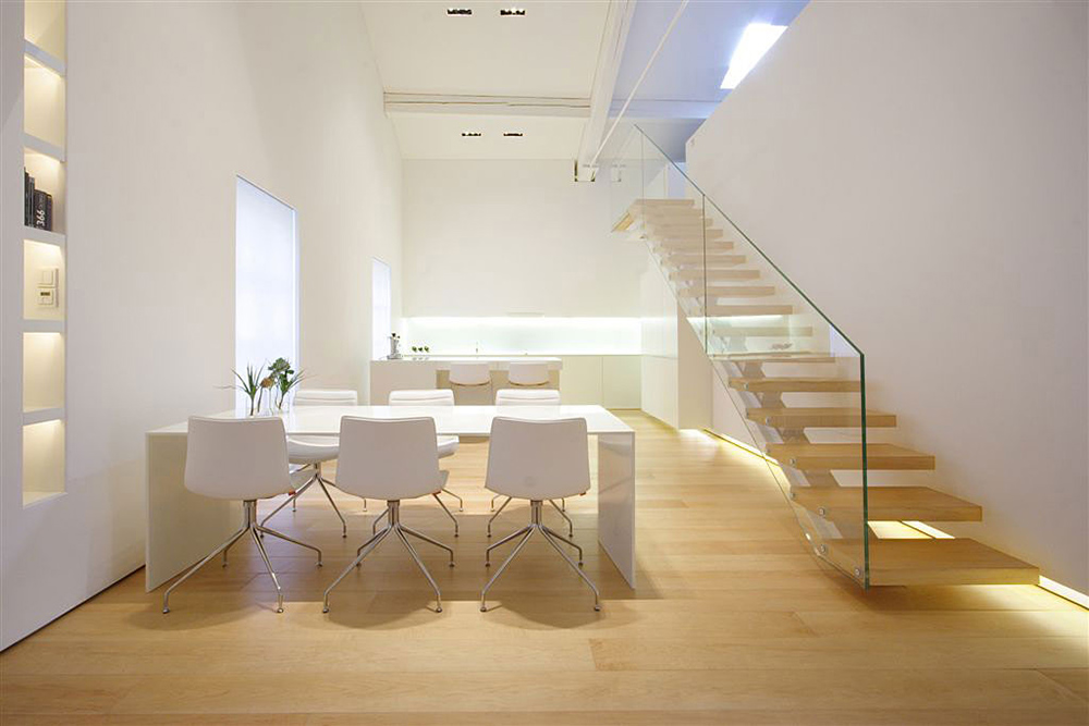Dining & Stairs, Como Loft, Milan by JM Architecture