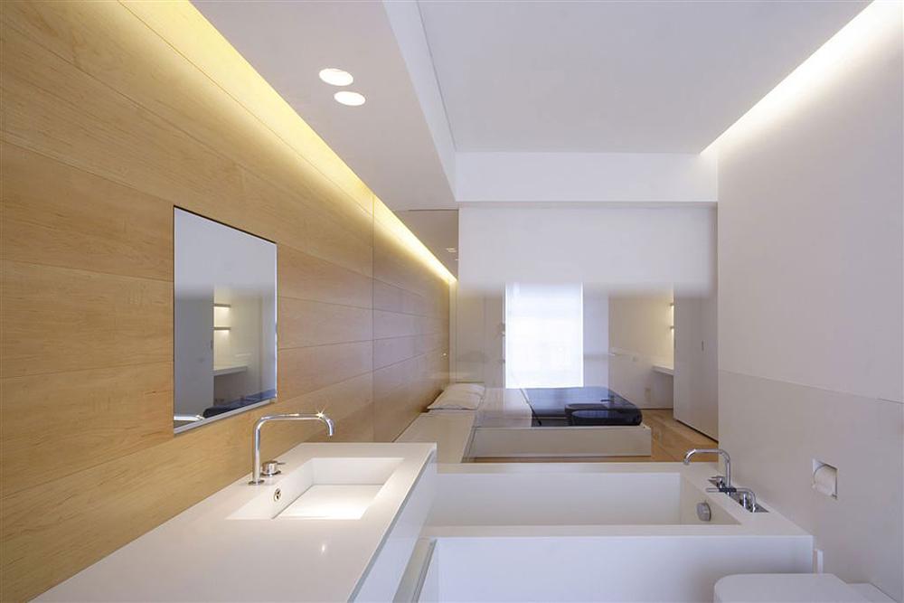 Compact Bathroom & Glass Wall, Como Loft, Milan by JM Architecture