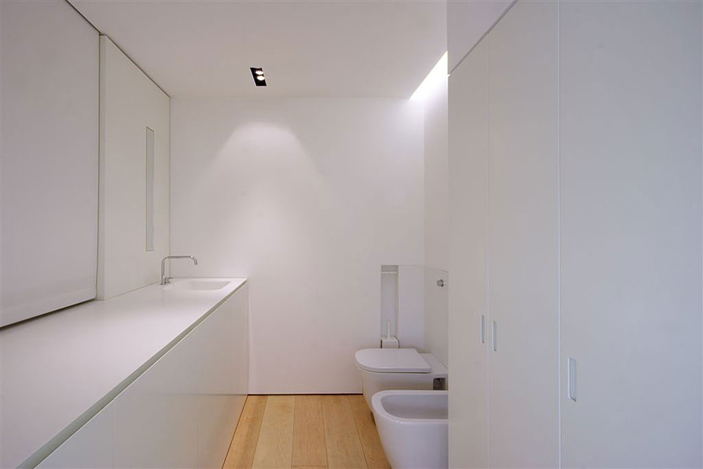 Minimal Compact Bathroom, Como Loft, Milan by JM Architecture