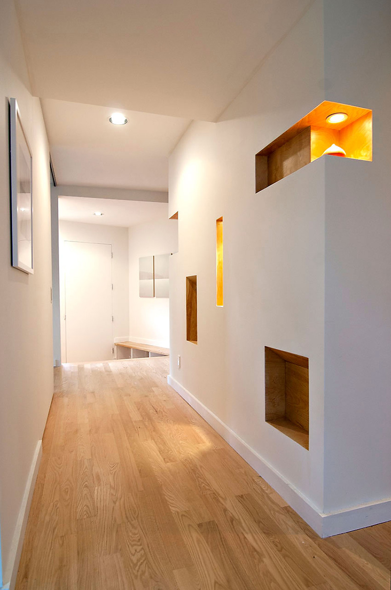 Hall & Wall Detail, DPR Residence, New York by Method Design Architecture