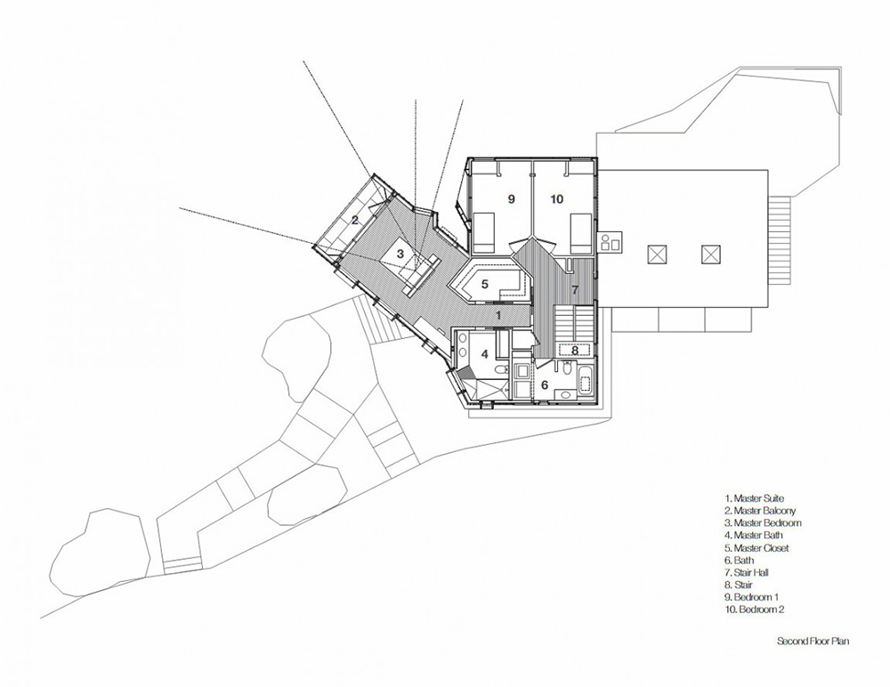 Second Floor Plan, DPR Residence, New York by Method Design Architecture