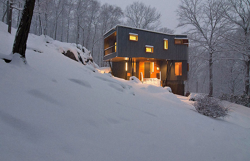 Snowing, DPR Residence, New York by Method Design Architecture