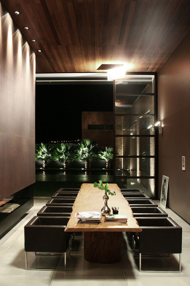 Dining Room, FF House, Brazil by Studio Guilherme Torres