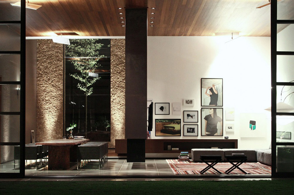Living Space & Dining, FF House, Brazil by Studio Guilherme Torres
