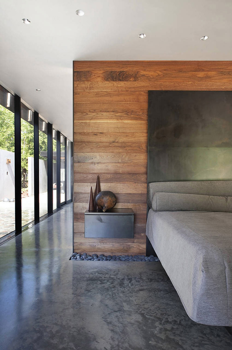 Bedroom, Heavy Metal Residence, Missouri by Hufft Projects