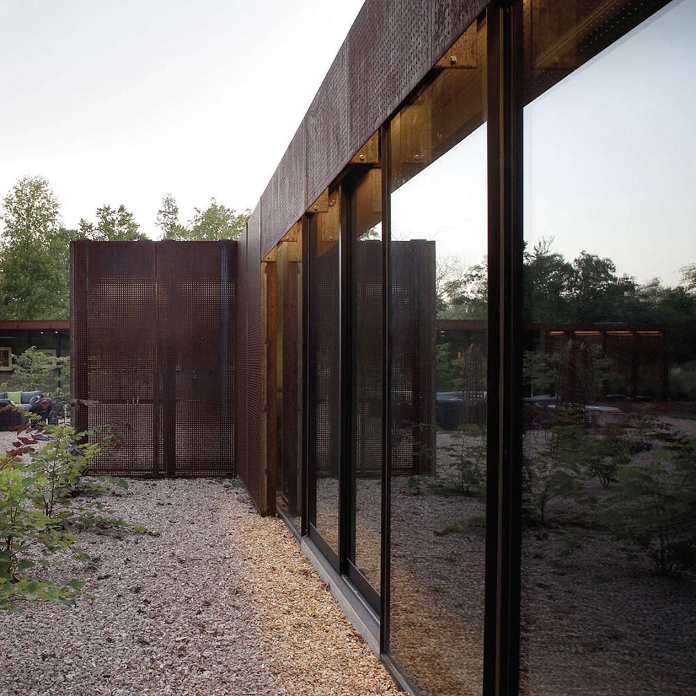 Glass Walls, Heavy Metal Residence, Missouri by Hufft Projects