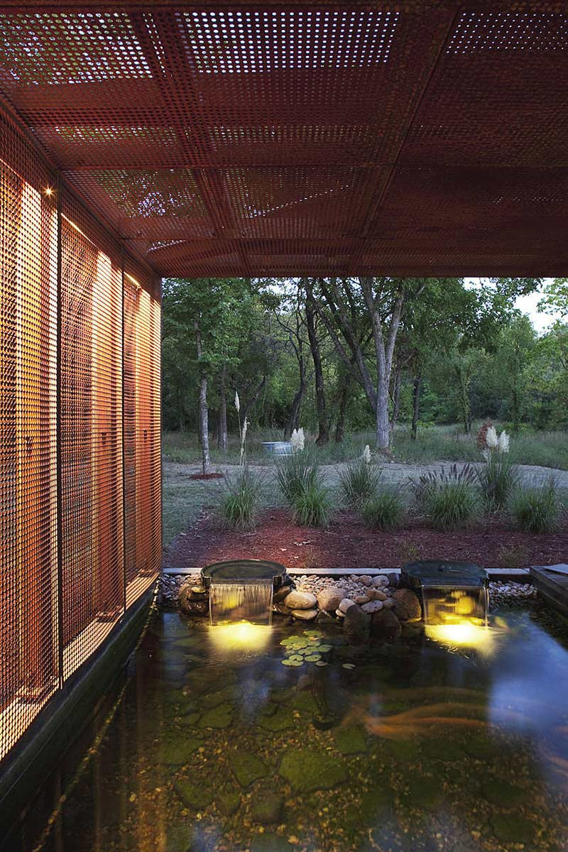 Water Feature, Heavy Metal Residence, Missouri by Hufft Projects