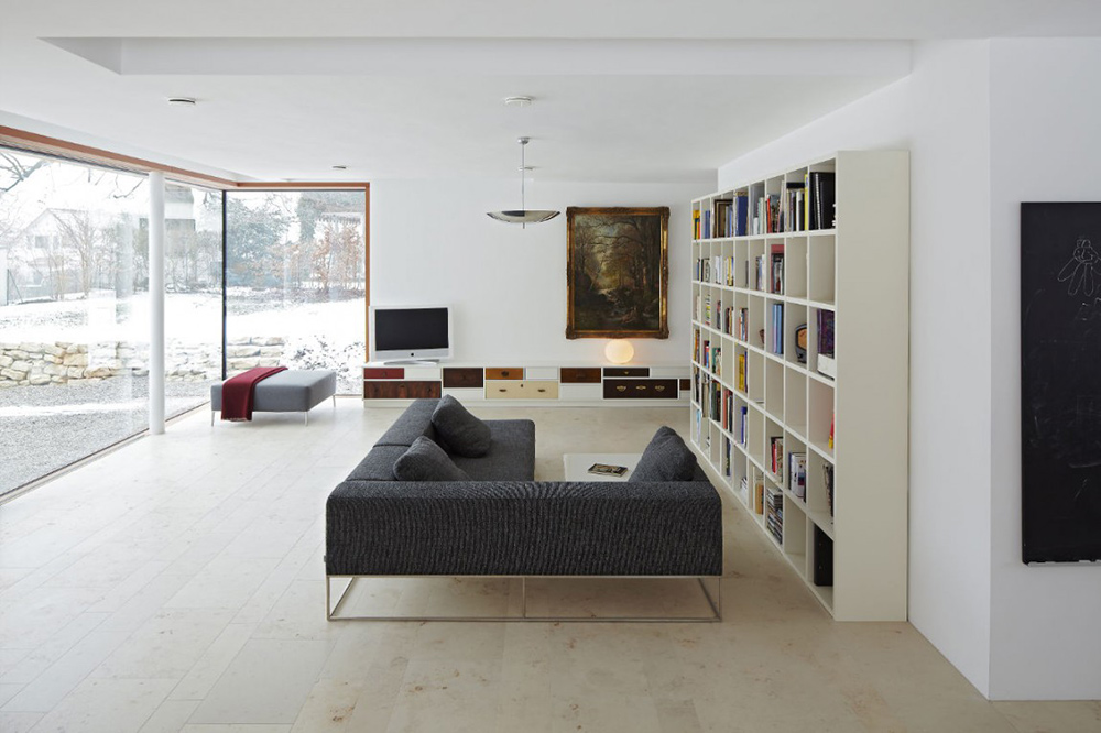Living Space, House 11 x 11, Munich by Titus Bernhard Architekten