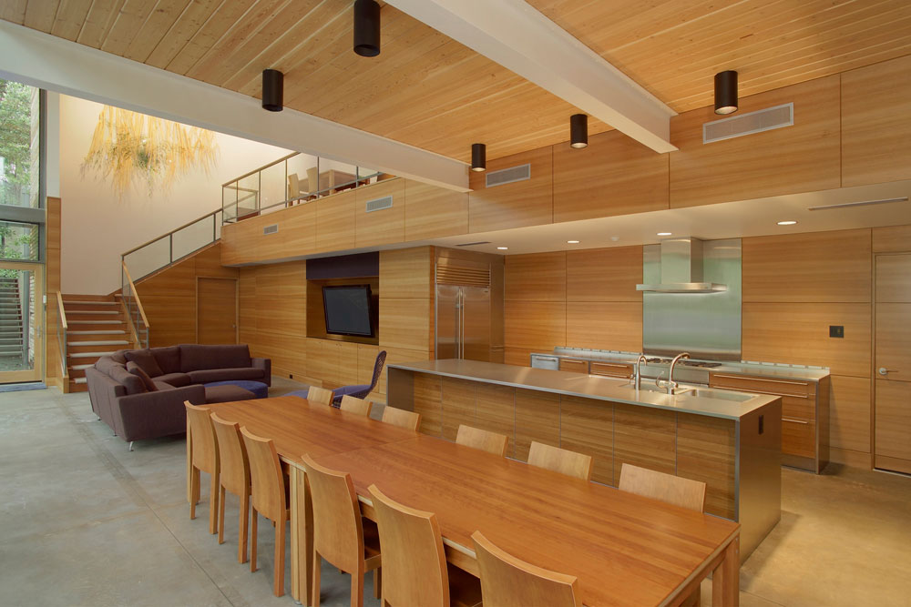 Kitchen & Dining, House in the Garden, Dallas by Cunningham Architects