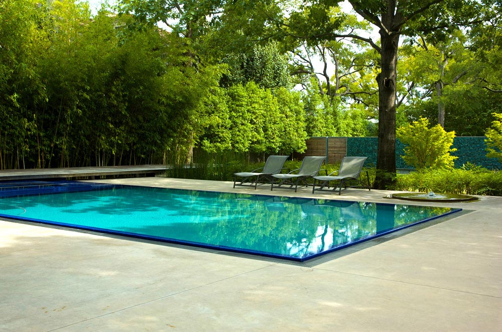 Pool, House in the Garden, Dallas by Cunningham Architects