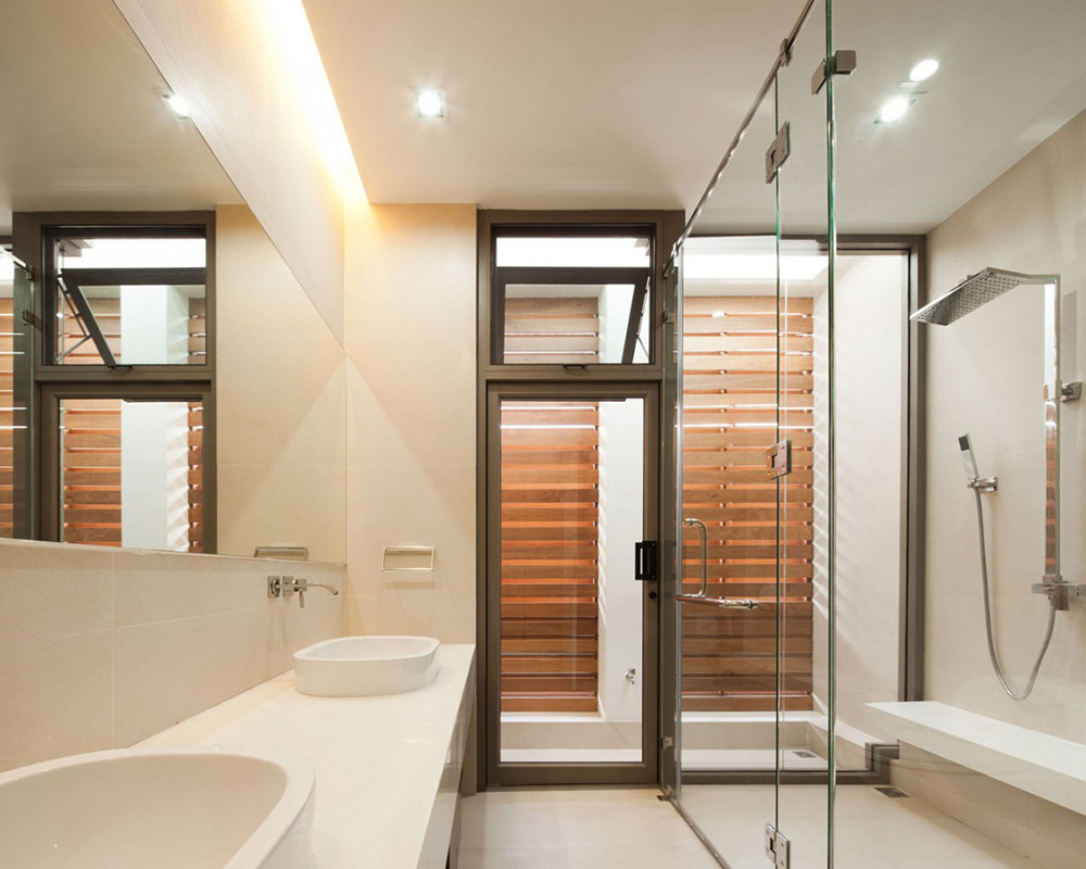 Bathroom, L71 House, Bangkok, by OFFICE [AT]