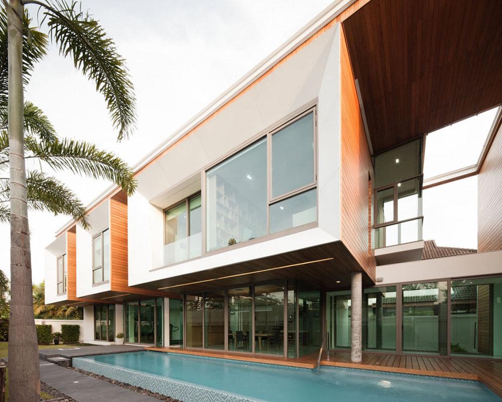 Pool, L71 House, Bangkok, by OFFICE [AT]