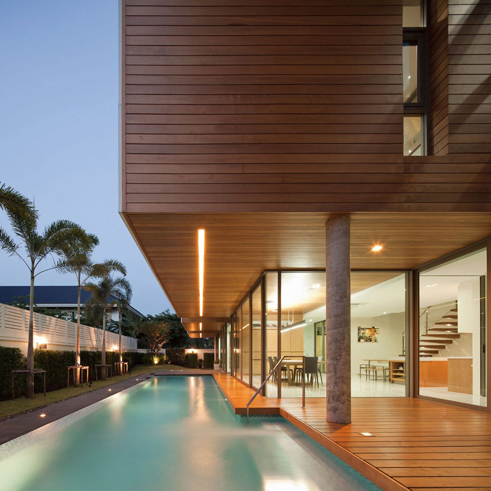 Outdoor Pool, L71 House, Bangkok, by OFFICE [AT]