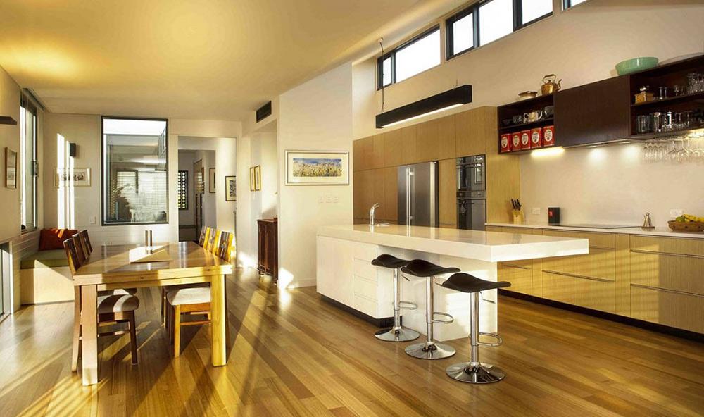 Kitchen & Dining, Lagoon Beach House, Tasmania by Birrelli Architecture