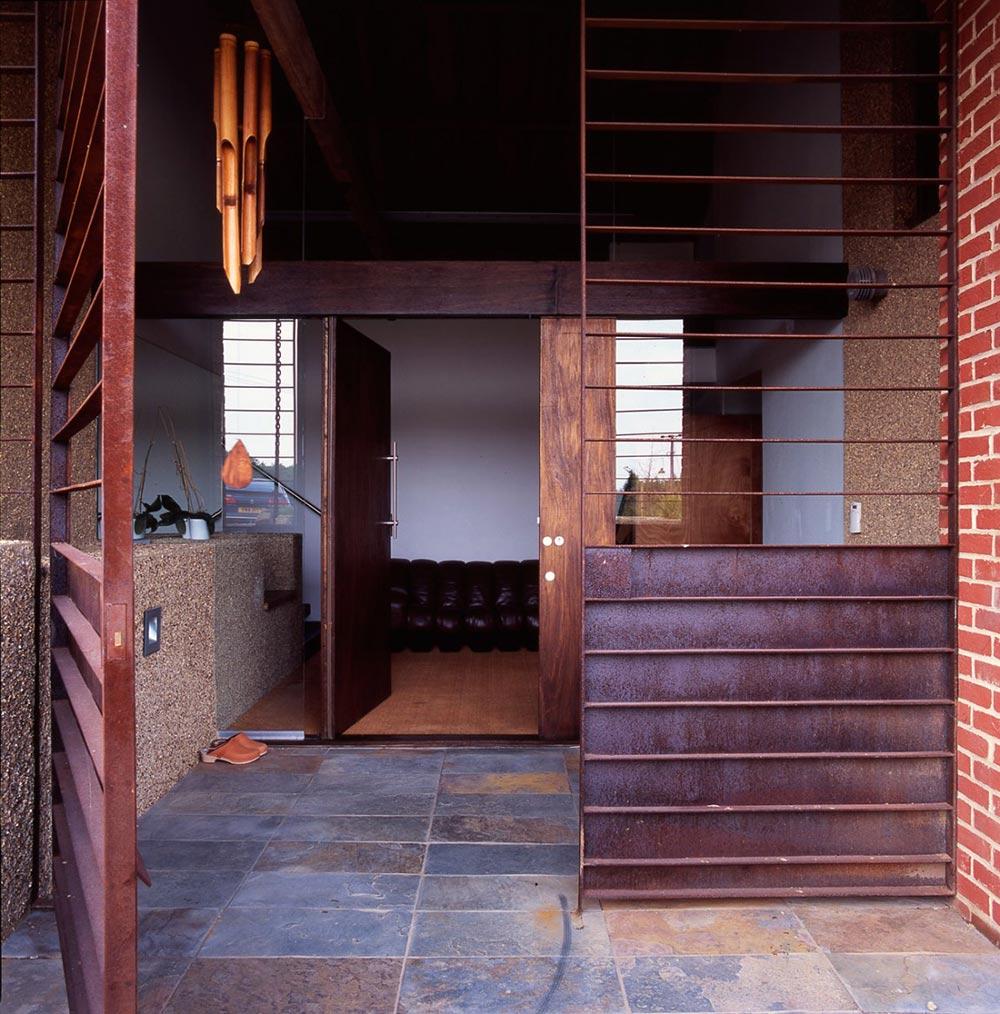 Entrance, The Long Barn by Nicolas Tye Architects