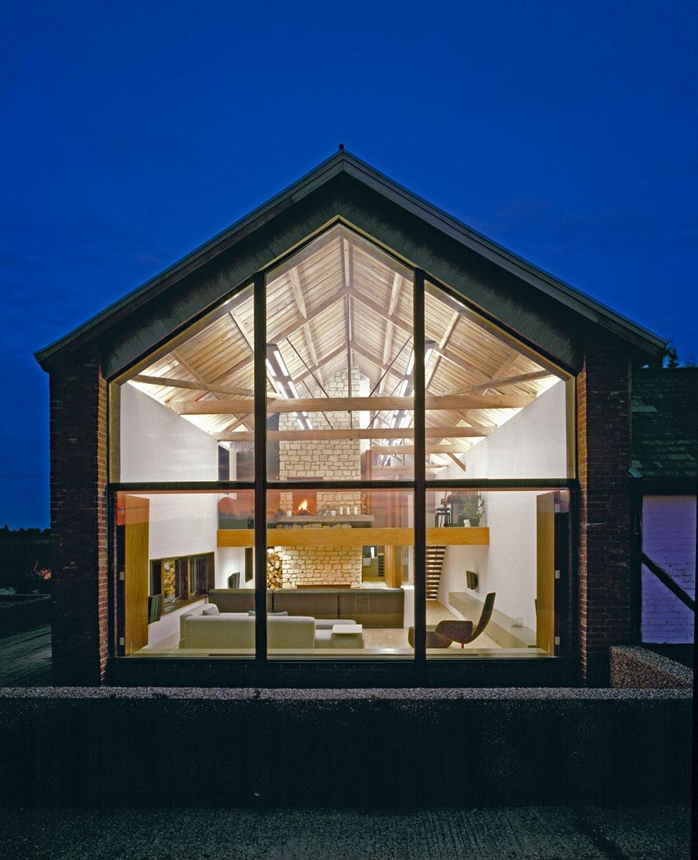 Evening, The Long Barn by Nicolas Tye Architects