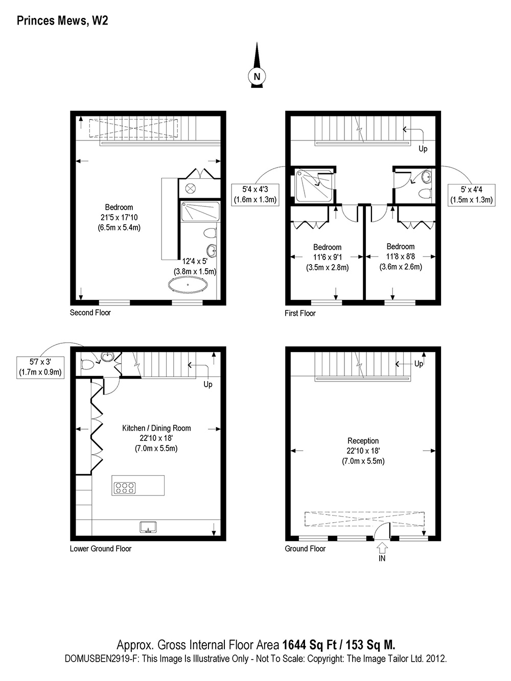 Plan, Small Mews House in Notting Hill