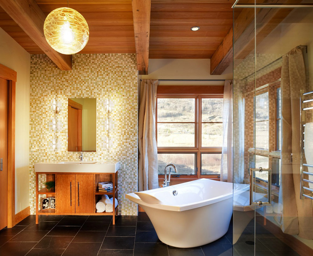 Bathroom, Reed Residence, Colorado by Robert Hawkins Architects