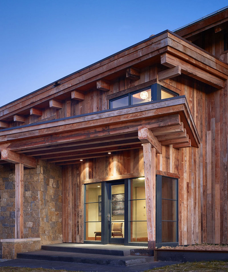 Entrance, Reed Residence, Colorado by Robert Hawkins Architects
