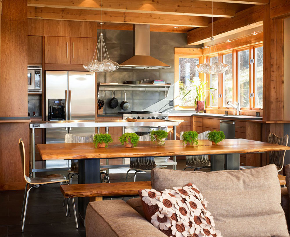 Open Plan Living, Reed Residence, Colorado by Robert Hawkins Architects