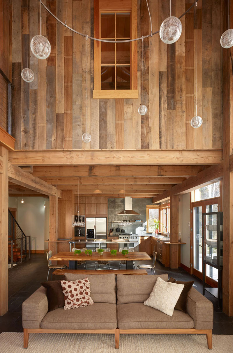 Living, Dining & Kitchen, Reed Residence, Colorado by Robert Hawkins Architects