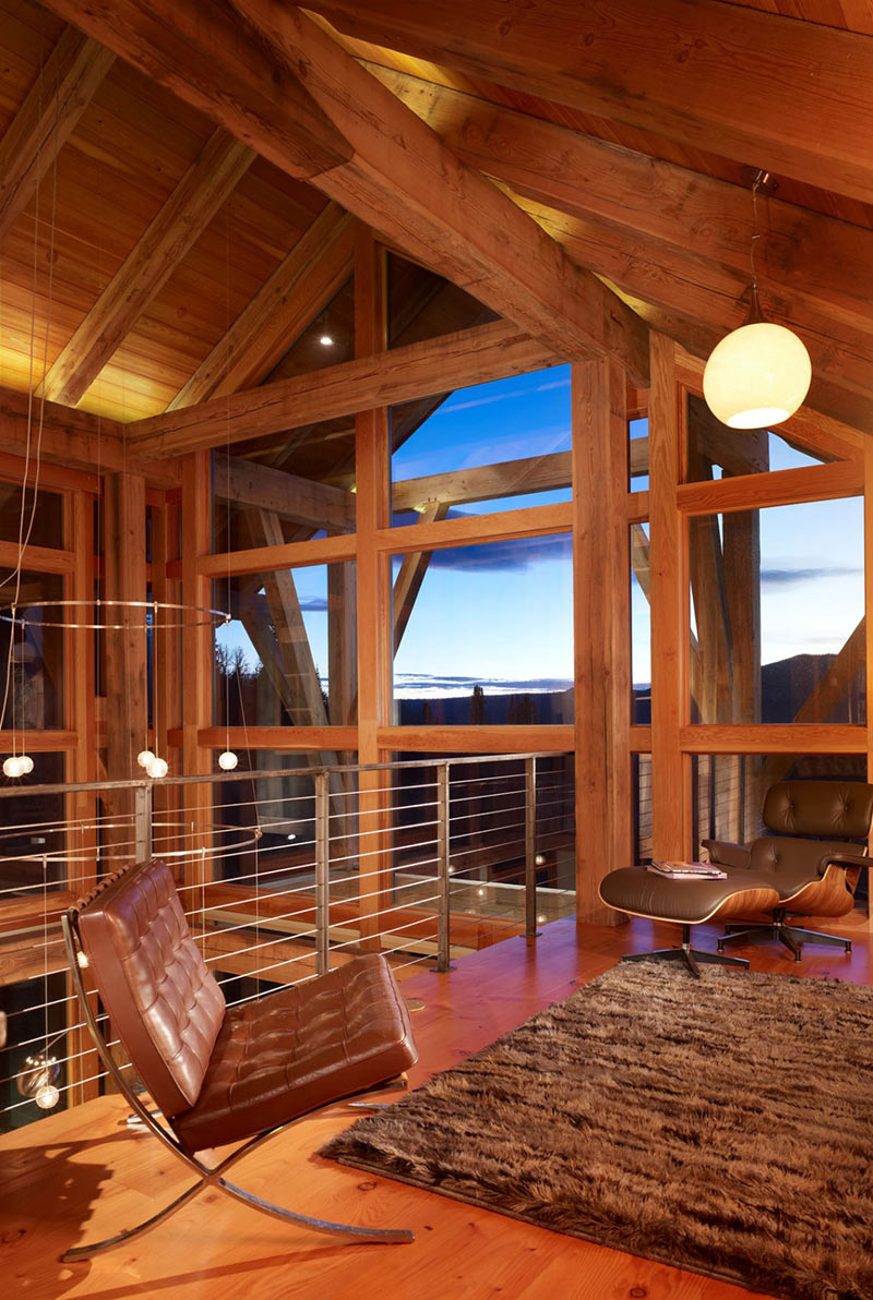 Living Space, Reed Residence, Colorado by Robert Hawkins Architects