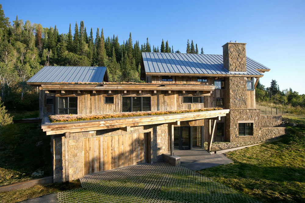 Garage, Living Roof, Reed Residence, Colorado by Robert Hawkins Architects