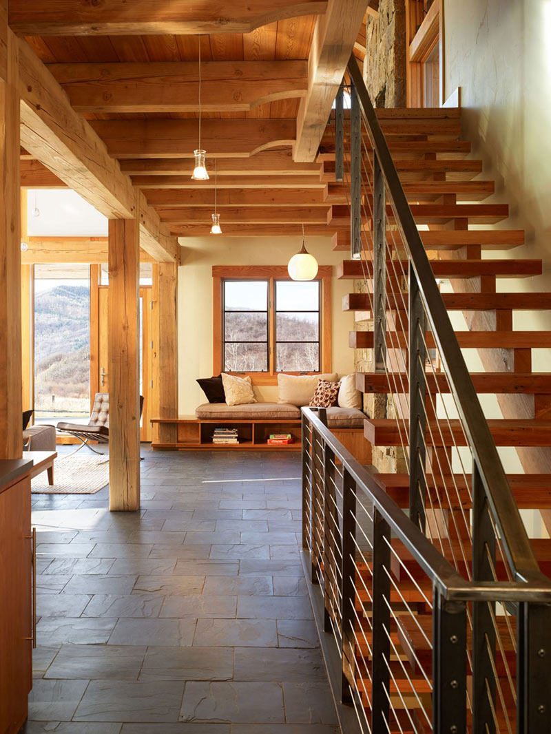 Stairs, Reed Residence, Colorado by Robert Hawkins Architects