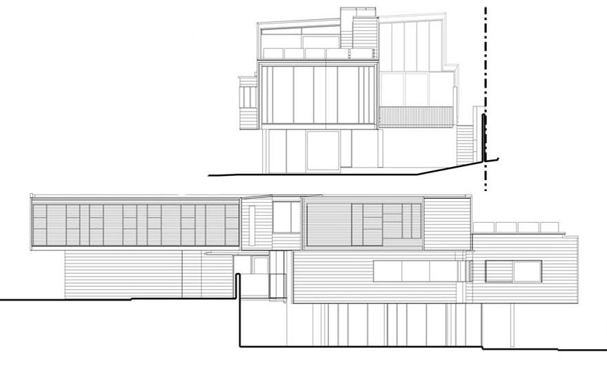 Elevations rosalie residence brisbane by richard kirk - Residence rosalie richard kirk architects ...