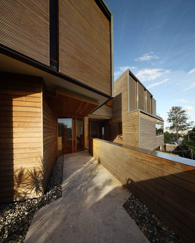 Entrance, Rosalie Residence, Brisbane by Richard Kirk Architects