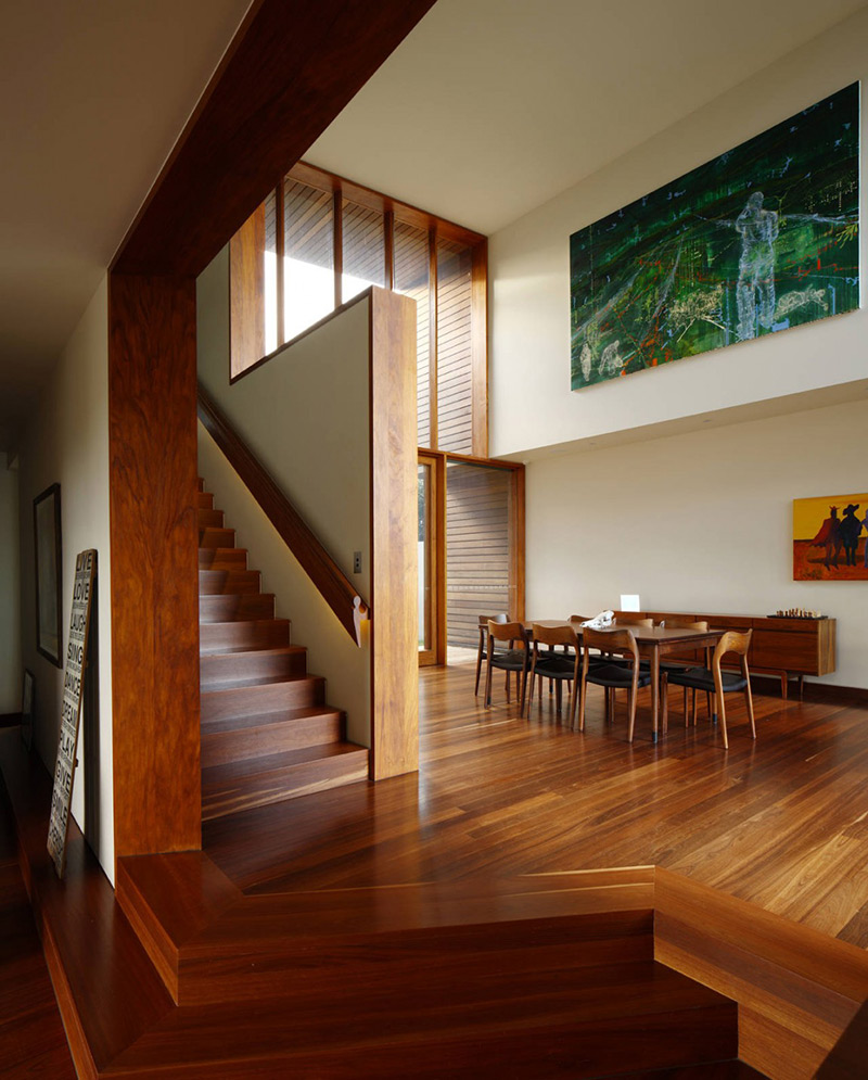Stairs & Dining, Rosalie Residence, Brisbane by Richard Kirk Architects