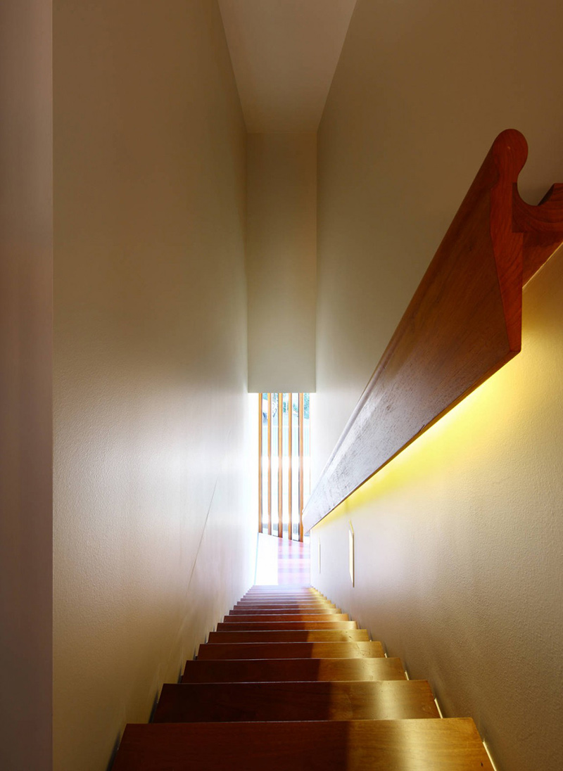 Stairs, Rosalie Residence, Brisbane by Richard Kirk Architects