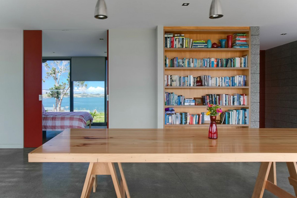 Dining, Bourke House, New Zealand by Pacific Environments Architects