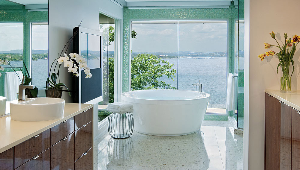 Bathroom, Acquavilla Residence, Lake Travis, Texas