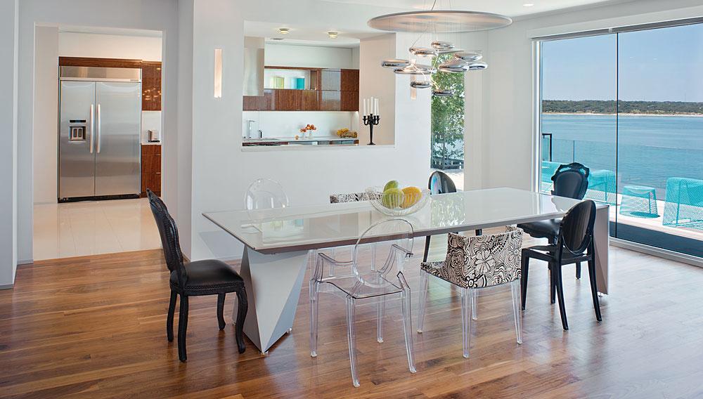 Dining Room, Acquavilla Residence, Lake Travis, Texas