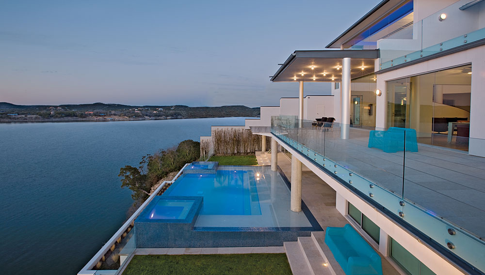 Infinity Pool, Lake View, Acquavilla Residence, Lake Travis, Texas