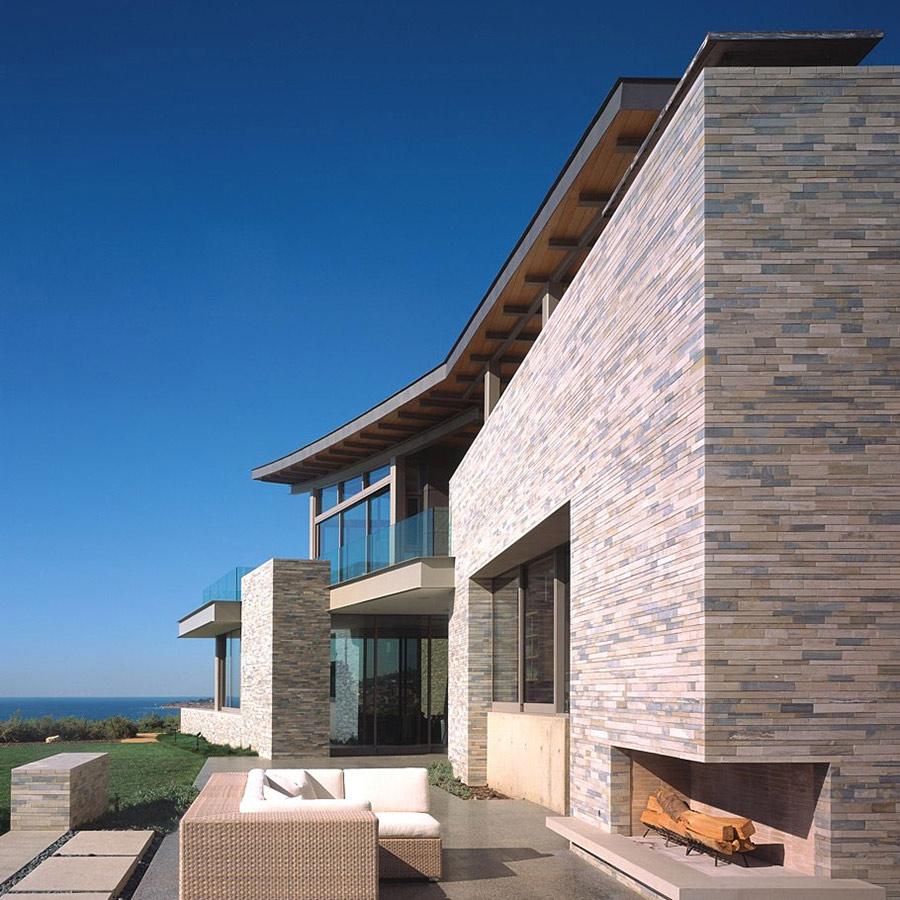 Outdoor Contemporary Fireplace, Altamira Residence, California by Marmol Radziner