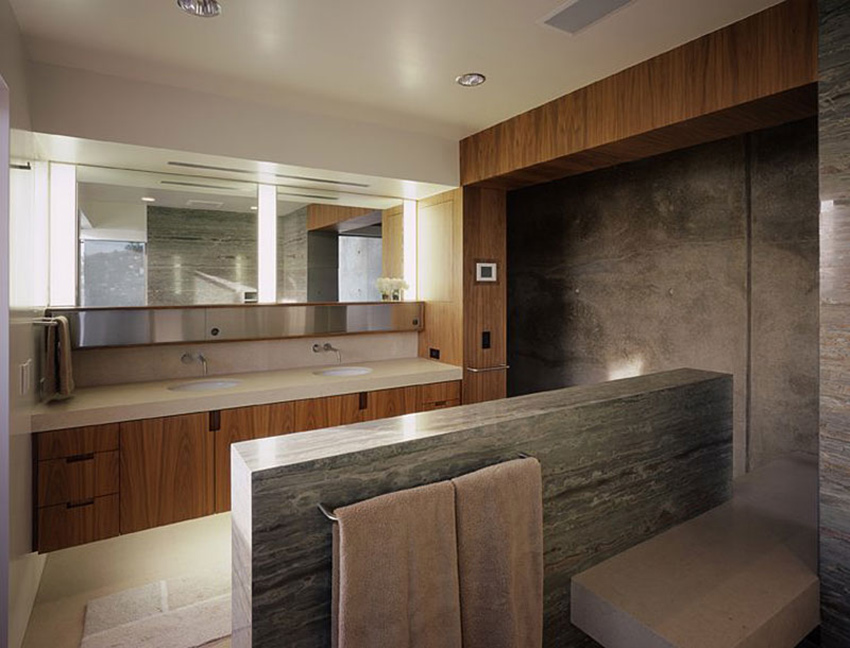 Bathroom, Altamira Residence, California by Marmol Radziner