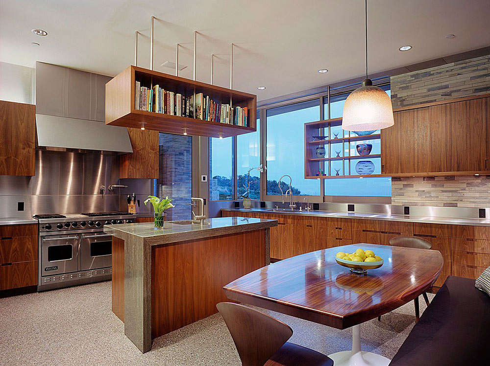 Kitchen, Altamira Residence, California by Marmol Radziner
