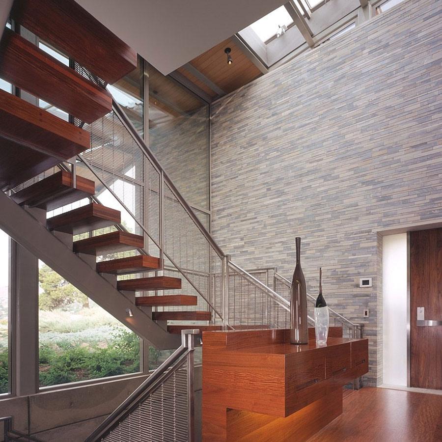 Stairs, Altamira Residence, California by Marmol Radziner