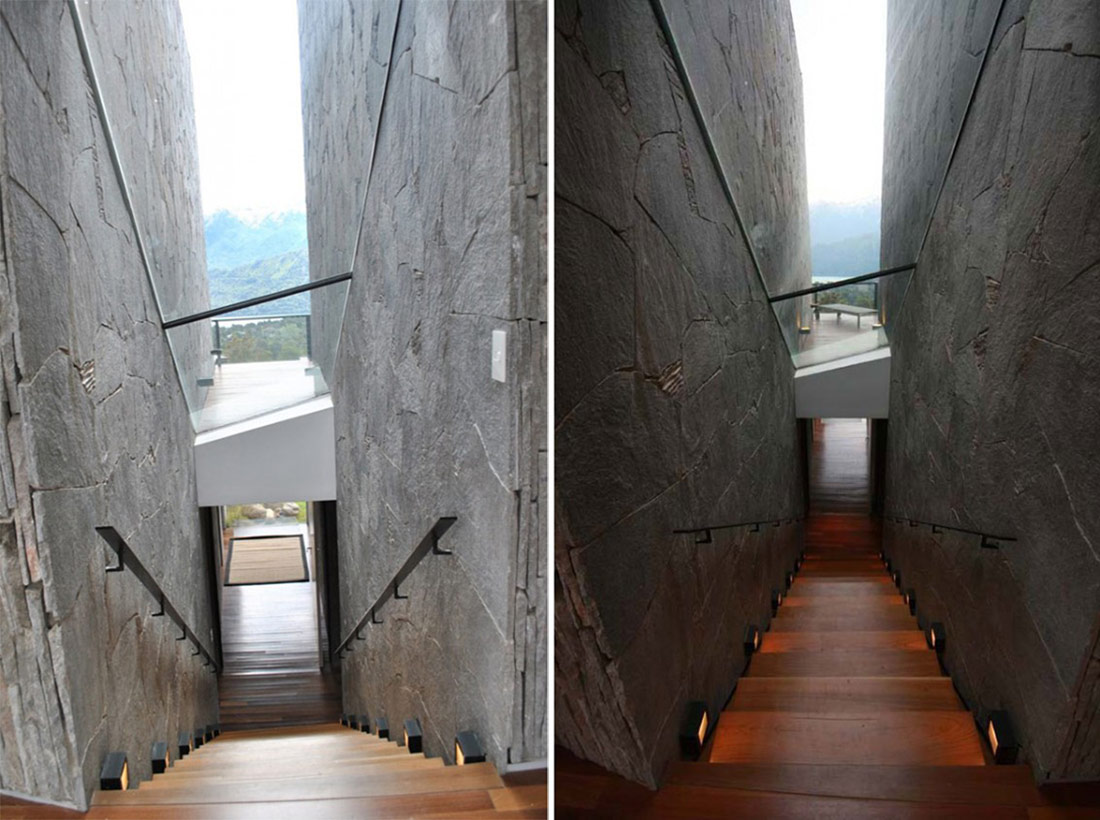 Amazing Stairs, Casa S, Mountain House in Argentina by Alric Galindez Architects