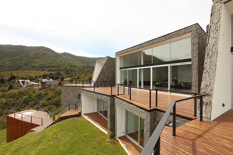 Balcony, Casa S, Mountain House in Argentina by Alric Galindez Architects