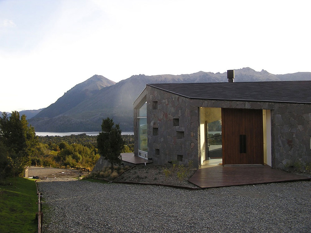 Entrance, Casa S, Mountain House in Argentina by Alric Galindez Architects