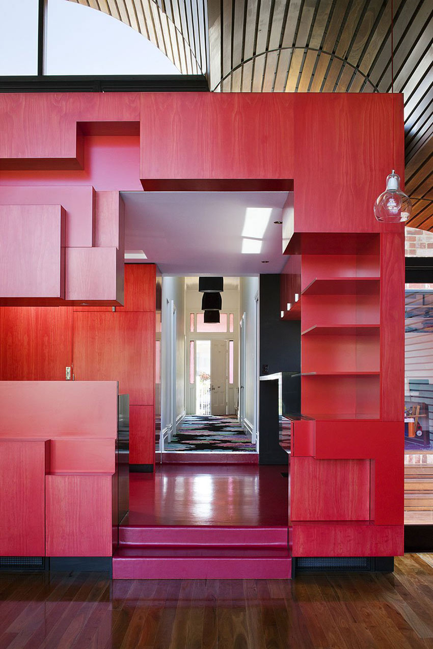 Hall & Kitchen, Cloud House, Melbourne by McBride Charles Ryan
