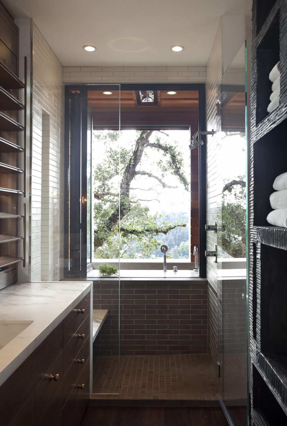 Bathroom, Shower, Hillside House, California by SB Architects