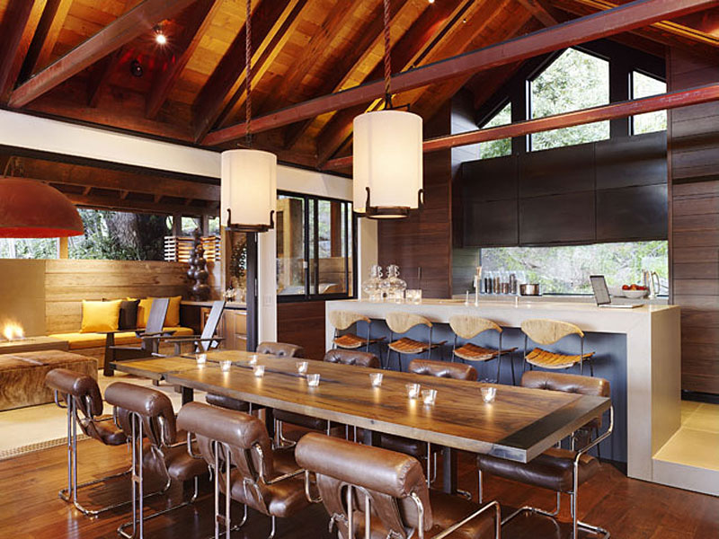 Dining Table, Kitchen, Hillside House, California by SB Architects