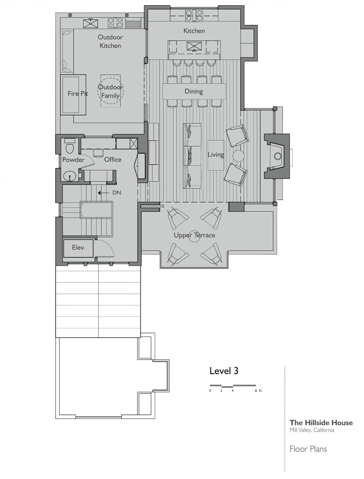 Floor Plan Level 3 Hillside House California By Sb