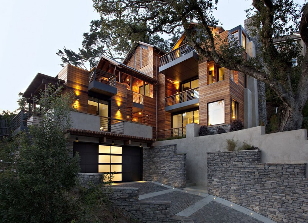 Hillside House, California by SB Architects