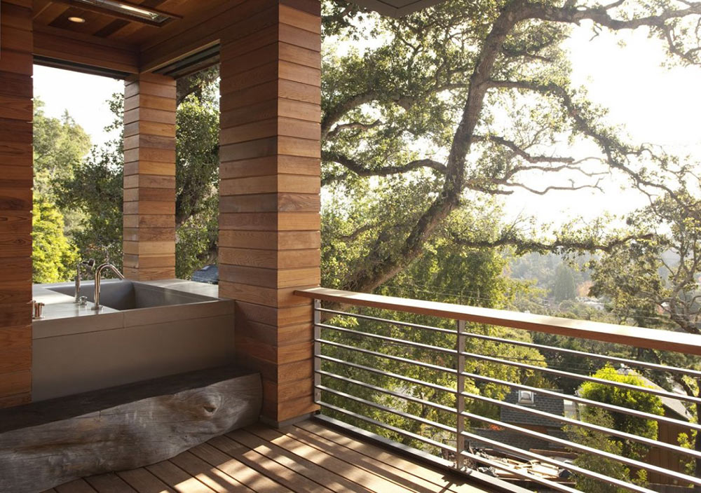 Outdoor Bath, Hillside House, California by SB Architects